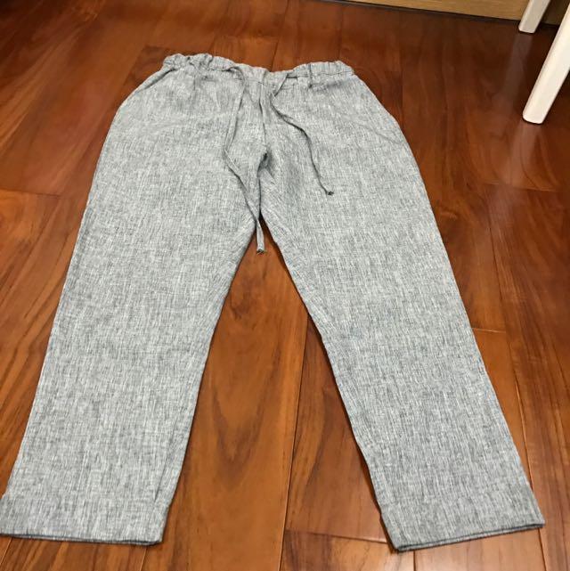 灰色綁帶老爺褲 九成新