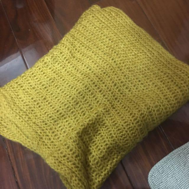 圍脖 粗針芥黃色