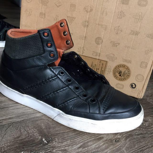 adidas originals 經典真皮高筒休閒鞋
