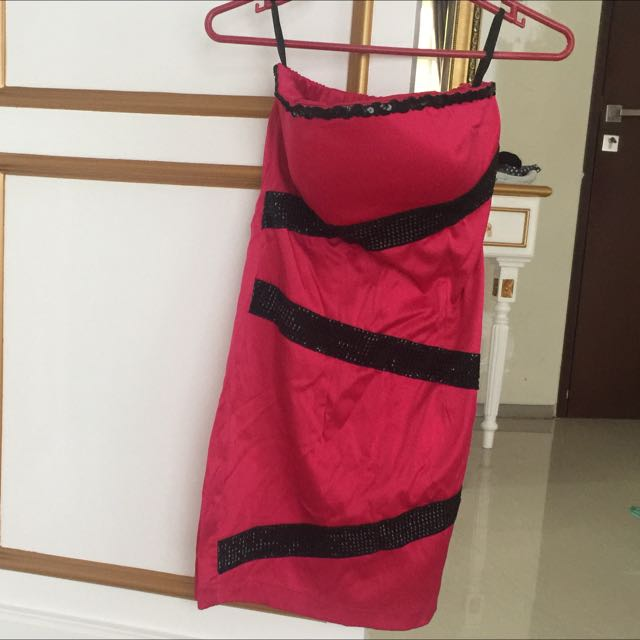 BKK pink tube dress