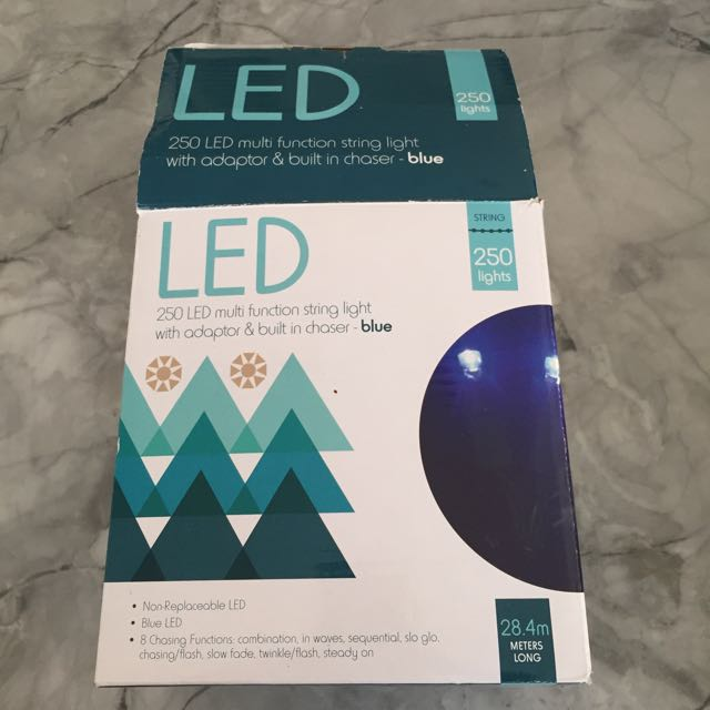 Blue Christmas Lights 28 Metres. Perfect Condition Never Used