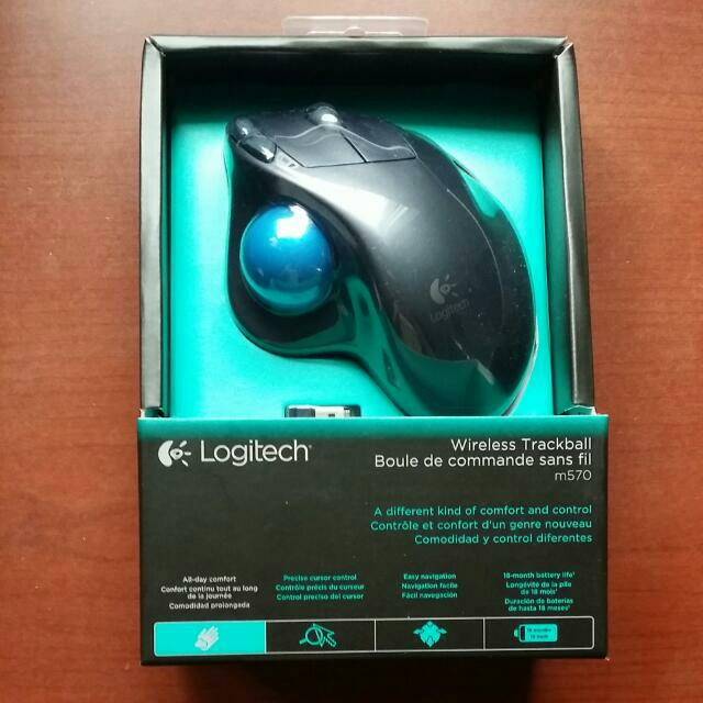 Free Reg Mail Logitech M570 Wireless Trackball Mouse, Electronics ...