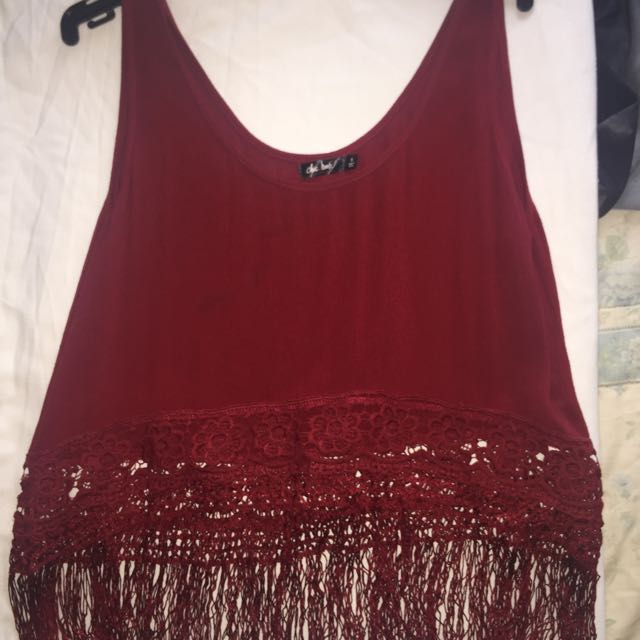 Size 8 Bohemian Top With Tassels
