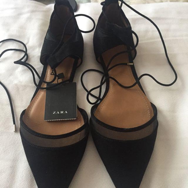 BRAND NEW Zara Flats Size 9