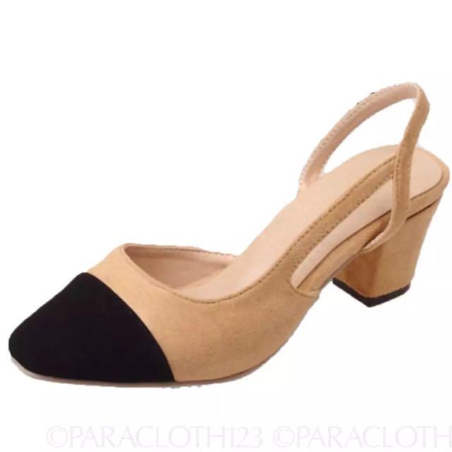 Chanel Lookalike Slingback Shoes