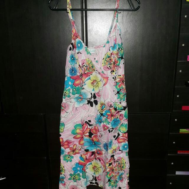 Flowery Pink Dress (S-M)