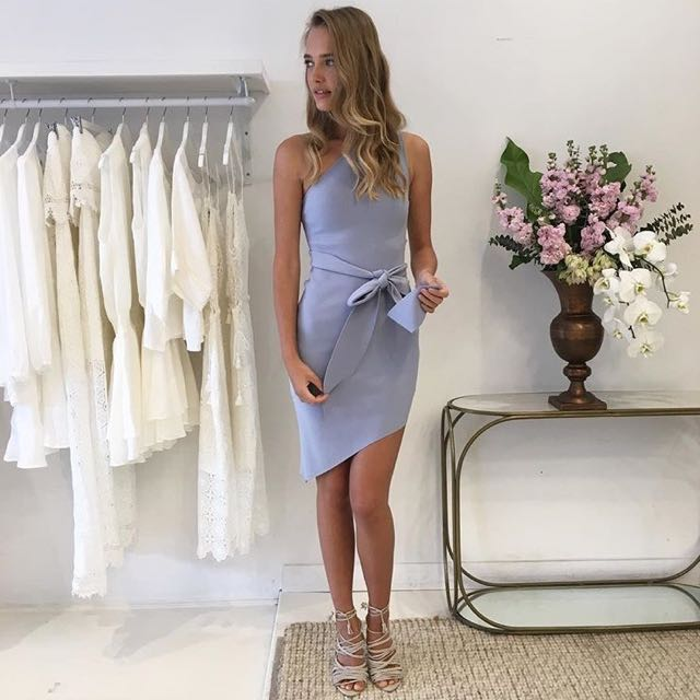 FOR HIRE! Bec and bridge Winkworth asym dress in periwinkle
