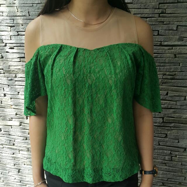 Green Brokat Sabrina