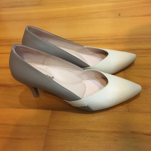 Greenpine 雙色氣質女鞋 可當婚鞋 37號