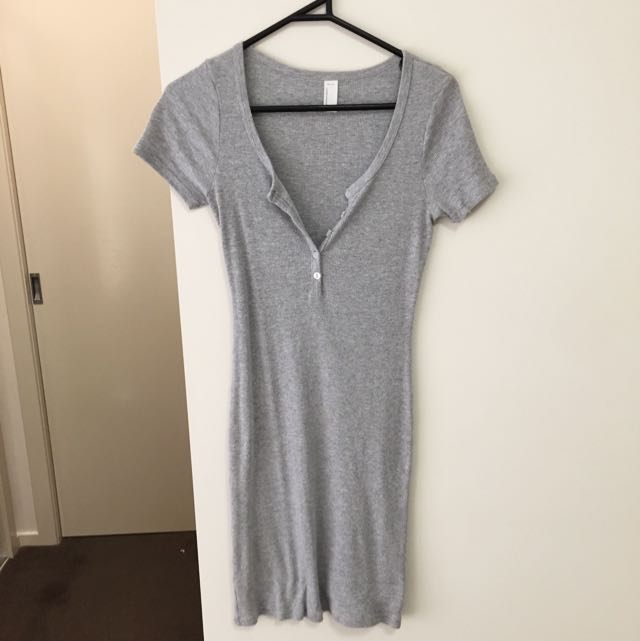 Grey American Apparel Dress