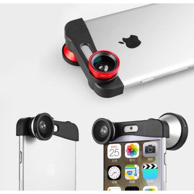 超實用外接式三合一鏡頭iPhone6手機鏡頭 廣角 微距 魚眼