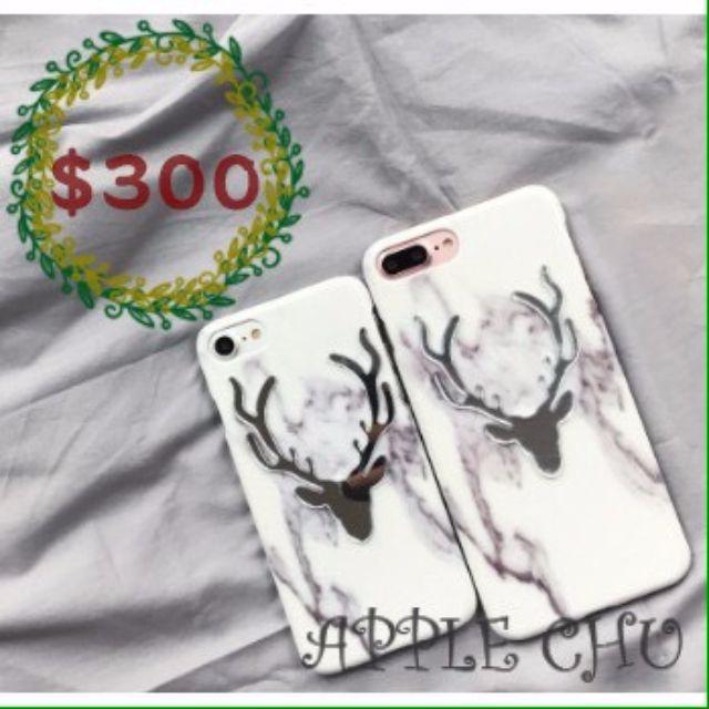 大理石麋鹿iphone硬殼手機殼