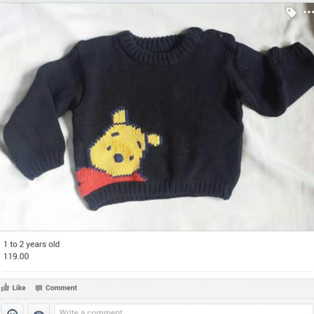Knitted Sweater Pooh