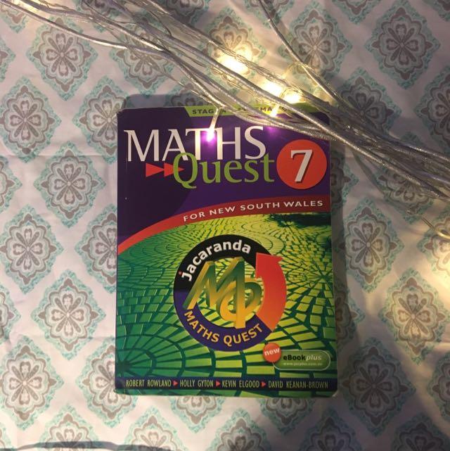 MATHS QUEST YEAR 7 Stage 4 Mathematics