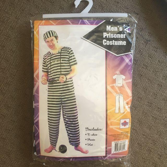 Men Costume Halloween Prisoner