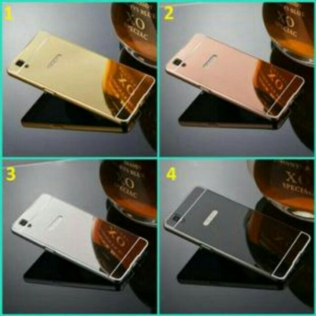 Mirror Case Oppo F1 A35 / Bumper Mirror Slide, Mobile Phones & Tablets, Mobile & Tablet Accessories, Cases & Sleeves on Carousell