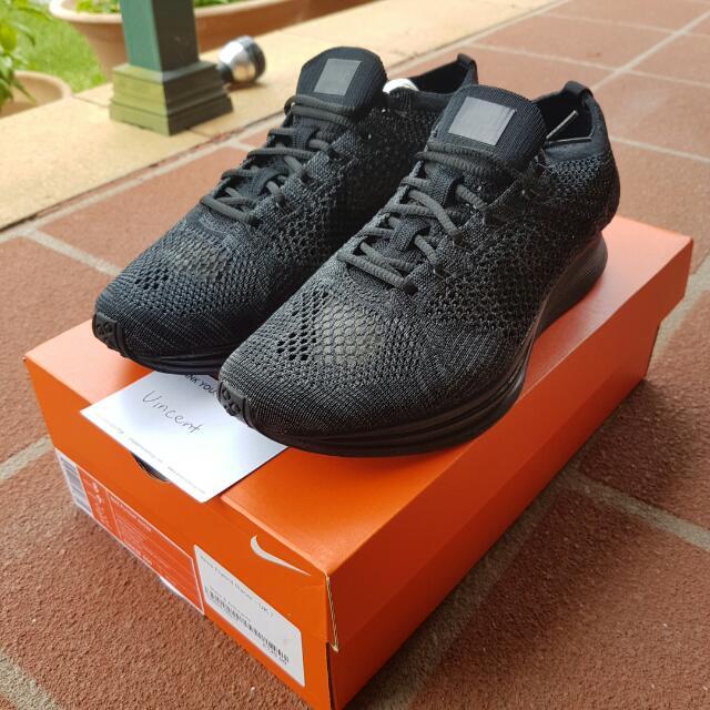 Nike Flyknit Racer Black & Anthracite