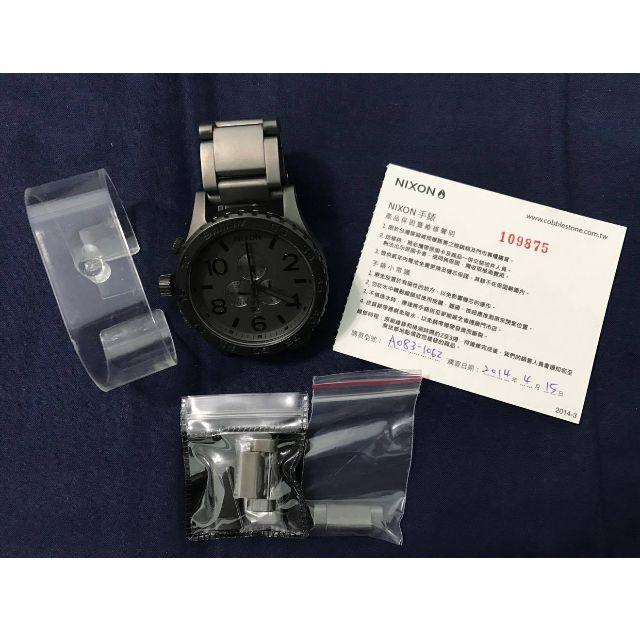 已降價Nixon chrono 51-30 matte black 消光黑手錶 含保卡  (可交流)