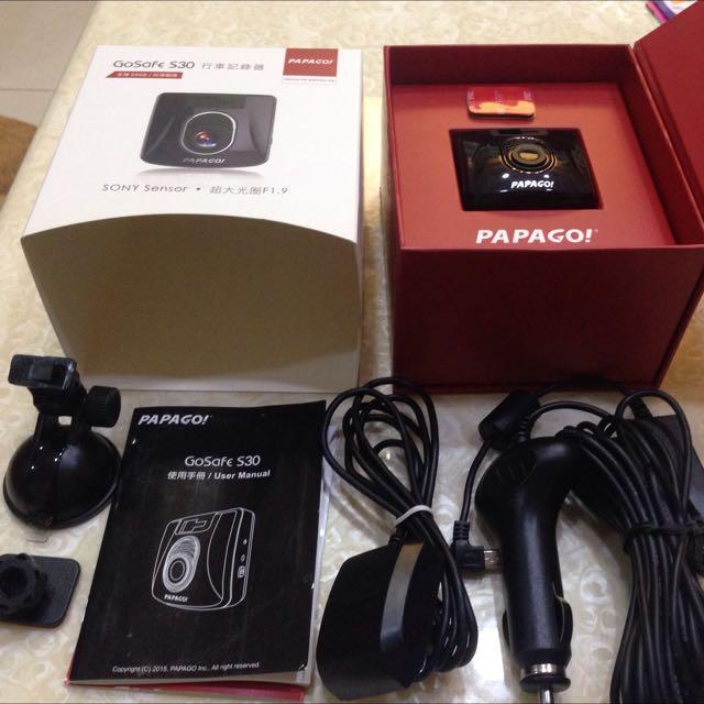 Papago S30 行車記錄器 送32g記憶卡 Gps