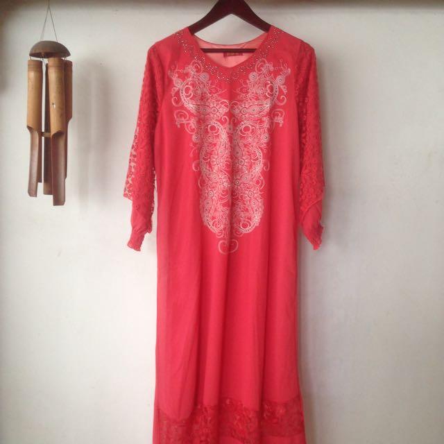Pinky Long Dress