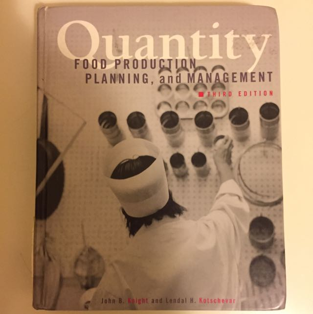 Quantity Food Production Planning, And Management