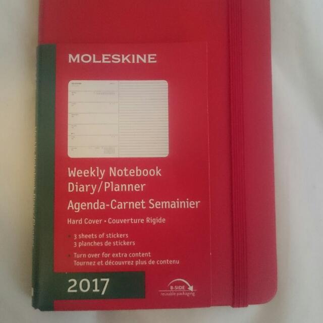 Red Moleskin weekly Planner (pocket size)