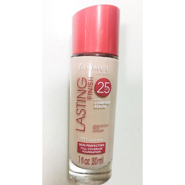 Rimmel Lasting Finish Liquid Foundation, Light Ivory  1 oz 粉底液(現貨)含運費