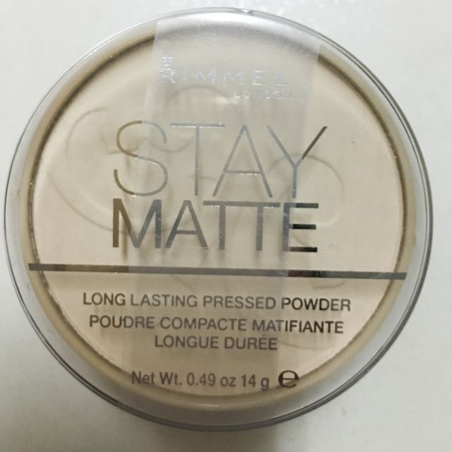 Rimmel Stay Matte Pressed Powder, Transparent 49 oz 蜜粉餅 透明色(現貨)含運費