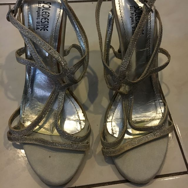 Silver Soledesire (People Are People Brand) Stilettoes