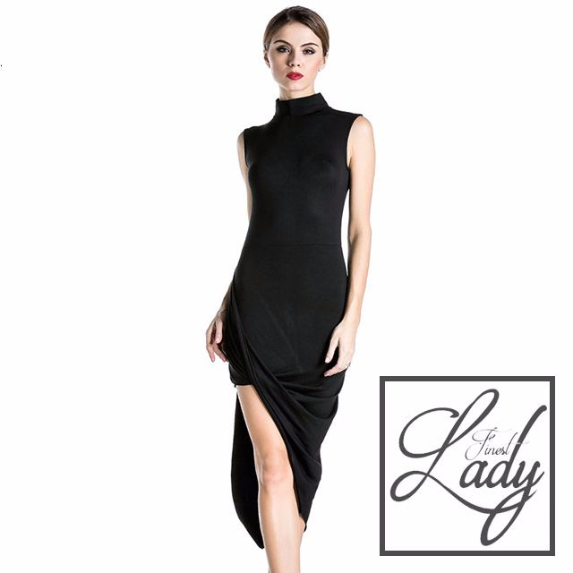 Simplicity Black Cut Dress
