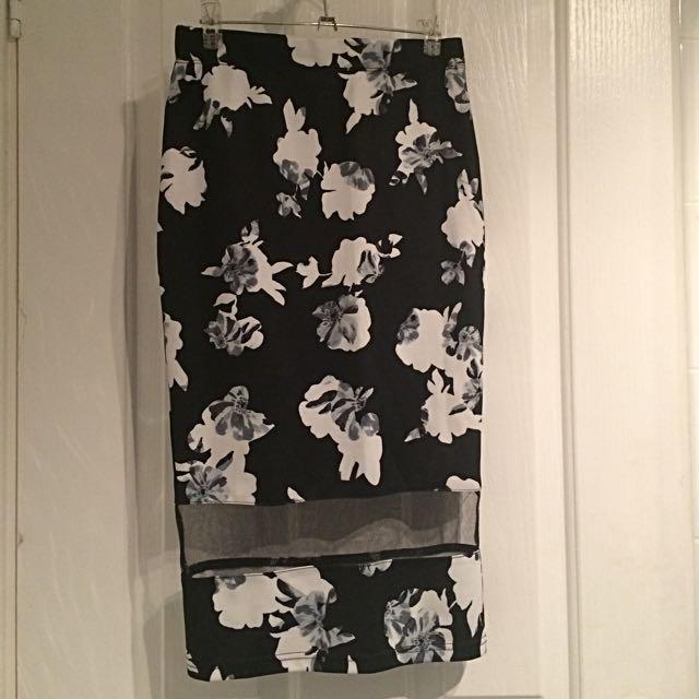 Dotti Floral Midi Skirt
