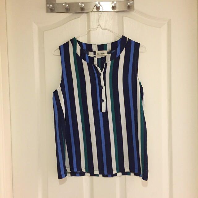 starmimi藍色條紋上衣