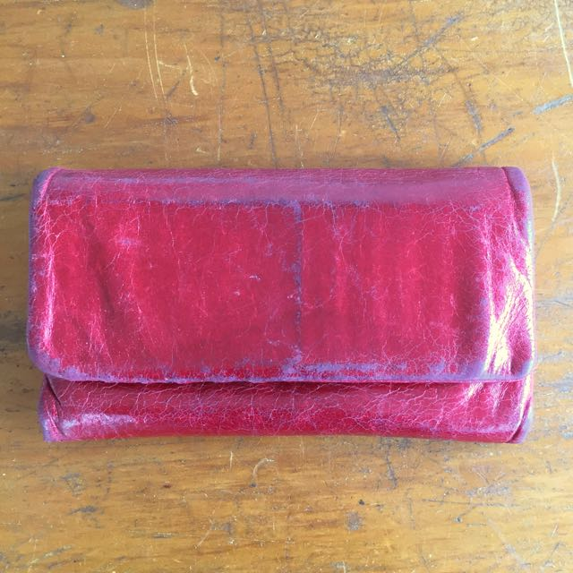 Status Anxiety Audrey Wallet Red