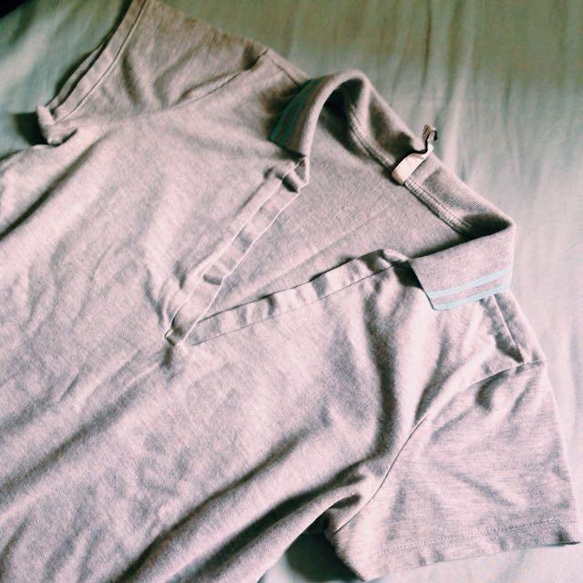 STRADIVARIUS Grey Polo Shirt