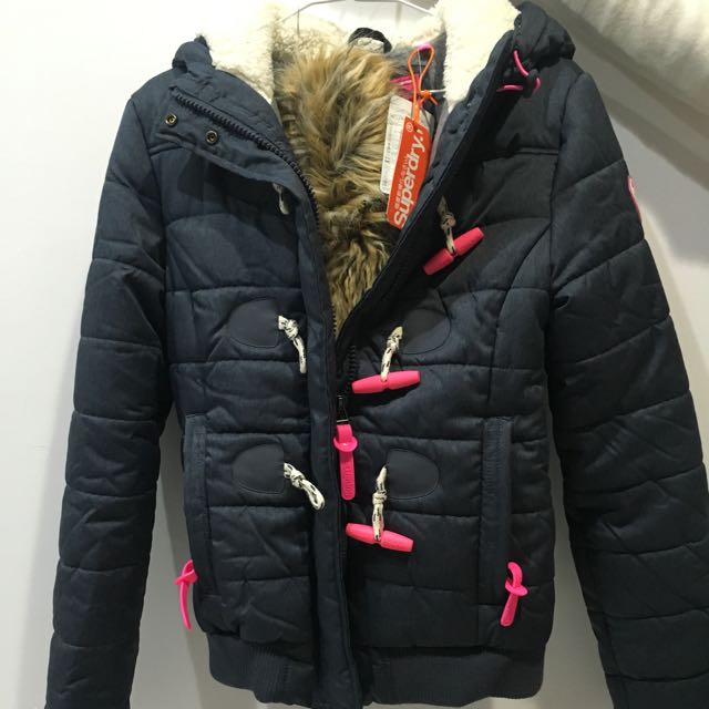 全新superdry 極度乾燥 防風外套 女生外套 牛角扣外套