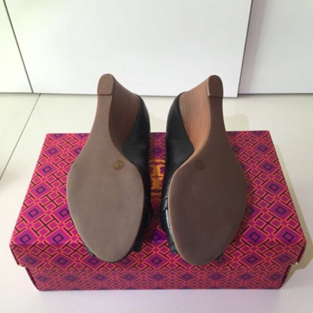 5645a844a85 Tory Burch Leticia 65MM Open Toe Wedge-tumbled