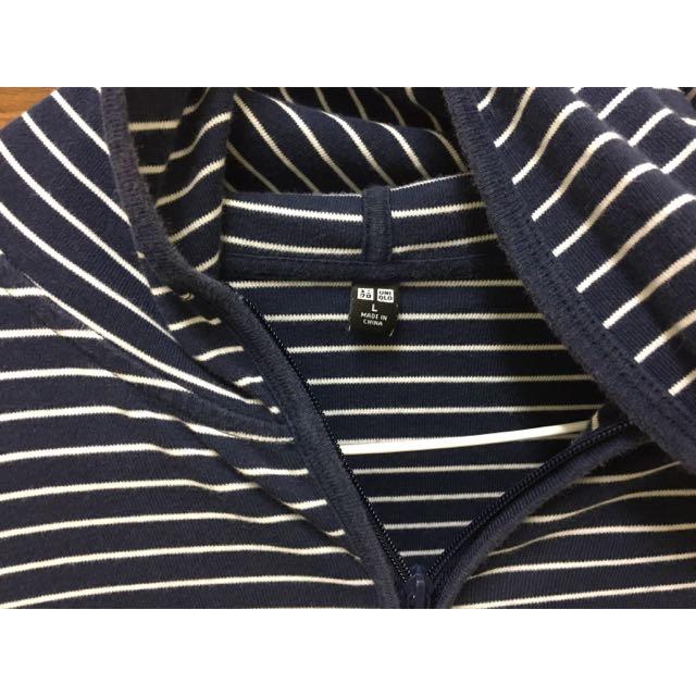 Uniqlo深藍條紋薄外套