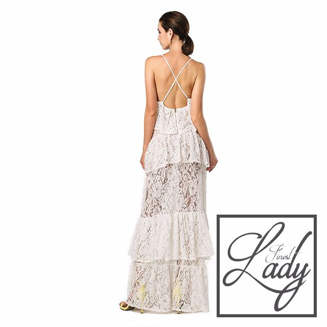 White Lacey Classic Dress
