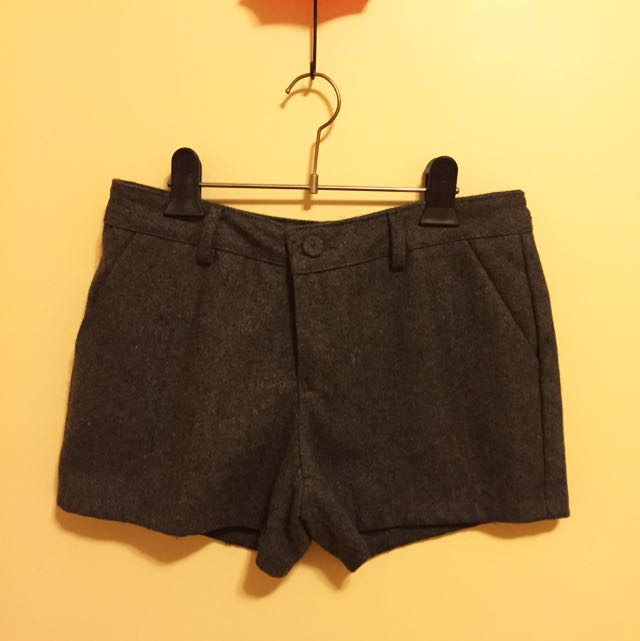 Winter Grey Short Pants From Korea