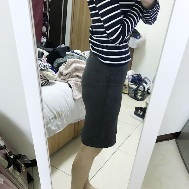 Zara 棉質合身裙