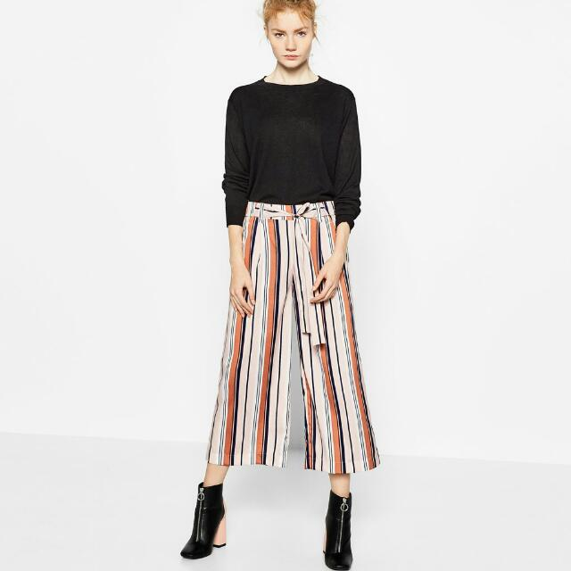 9185efac Zara Trafaluc Flowing Trousers (Trf Striped Culottes / Pants), Women's  Fashion, Clothes, Pants, Jeans & Shorts on Carousell