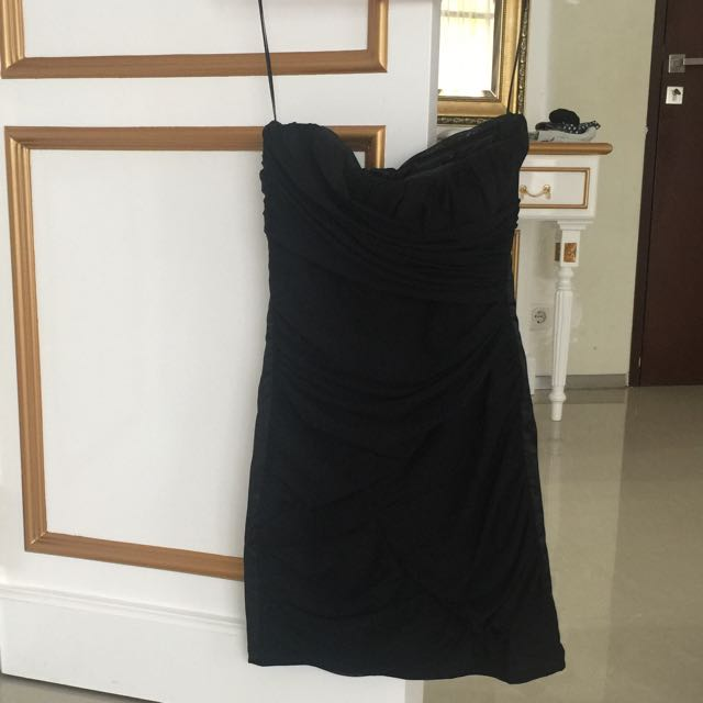 Zara TRF black tube dress