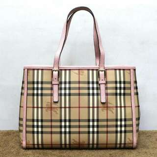 Burberry Large Haymarket Tote