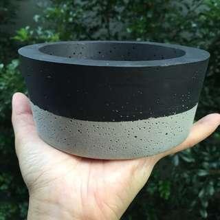 Concrete Planter in Black