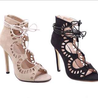 [PO] Lace Up Heels