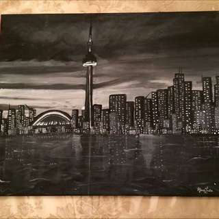 CN Tower Painting