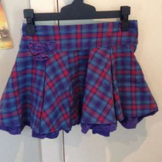 Pumpkin Patch Checked Skirt