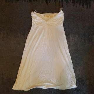 Zara White Boobtube Dress Size 8
