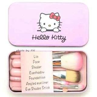 Hello Kitty Makeup Brush Kit Set 7 PCS Kuas Make Up
