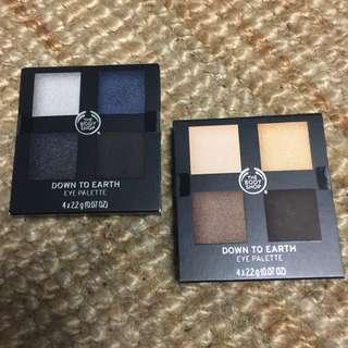 Body Shop Eyeshadow Palettes X 2
